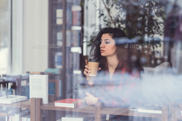 Beautiful woman with coffee - Stock Photo - Images