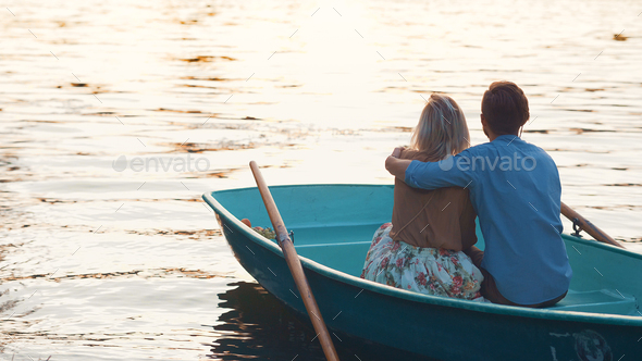 Embracing couple on a date - Stock Photo - Images