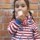 Little Girl Is Eating Ice Cream - VideoHive Item for Sale