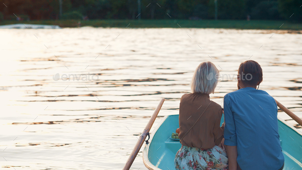 Young couple on a date - Stock Photo - Images