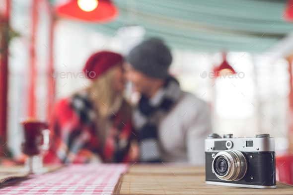Kissing young couple - Stock Photo - Images