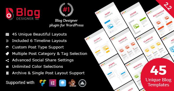 Blog Designer PRO for WordPress - CodeCanyon Item for Sale