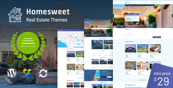 Image of HomeSweet - Real Estate WordPress Theme