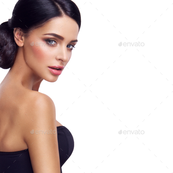 Woman with beautiful bright makeup. - Stock Photo - Images
