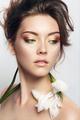Close-up studio portrait of beautiful woman - PhotoDune Item for Sale