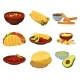 Flat Vector Set of Traditional Mexican Food