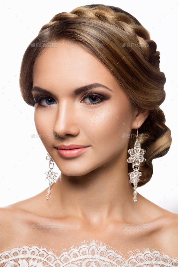 Beautiful bride. Wedding make up - Stock Photo - Images