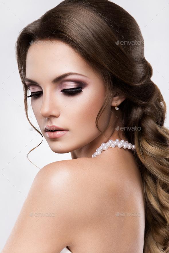 Beautiful bride. Wedding make up - Stock Photo - Images