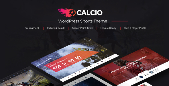 Image of Calcio - Football & Soccer Management WordPress Theme