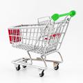 Italian shopping cart isolated on white background