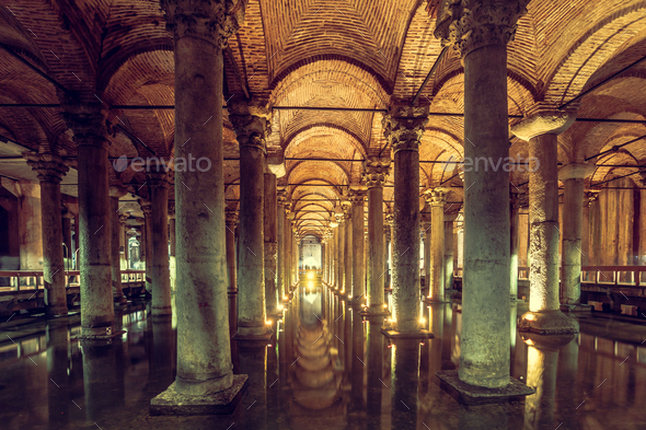 Basilica Cistern in Istanbul - Stock Photo - Images