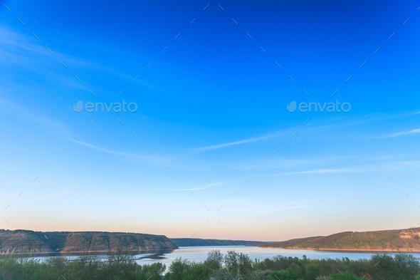 River landscape in Bakota Park - Stock Photo - Images