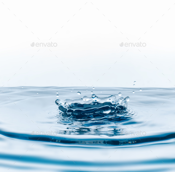water drops falling - Stock Photo - Images