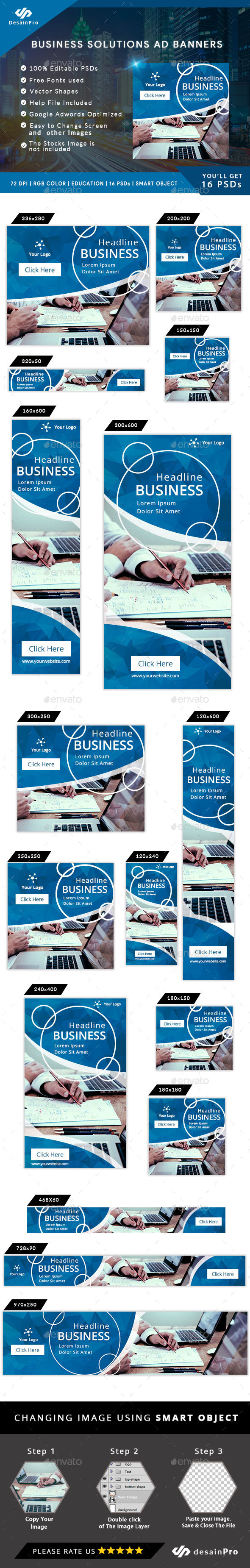 Multipurpose Ad Banners Template - AR - Banners & Ads Web Elements