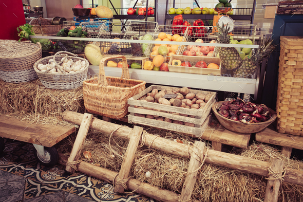 fresh fruits and vegetables - Stock Photo - Images