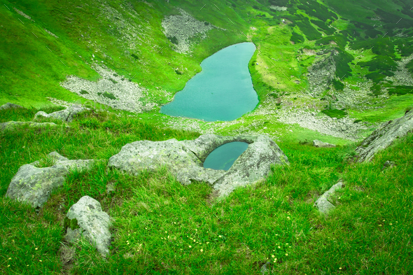 Alpine lake - Stock Photo - Images