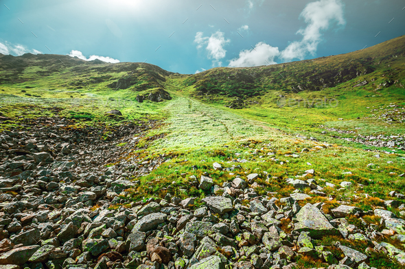 Mountain landscape in summer - Stock Photo - Images