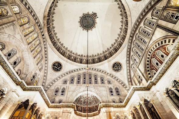 Blue Mosque interior - Stock Photo - Images