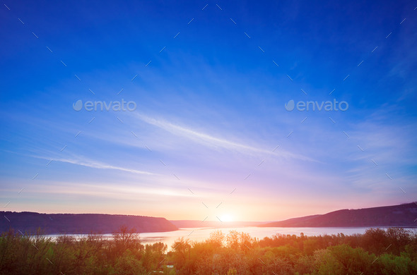 Sunset in Bakota Park - Stock Photo - Images