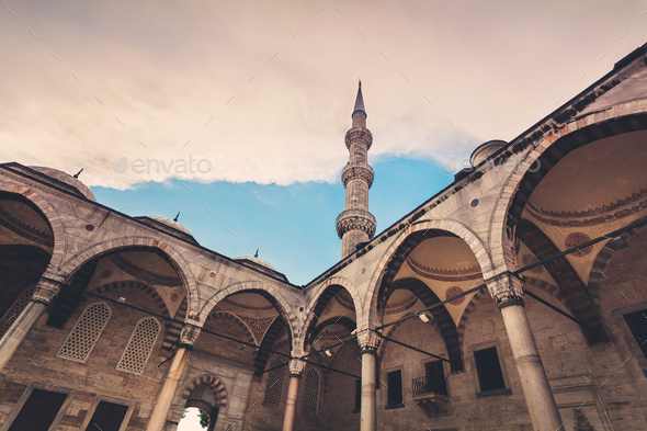 Blue Mosque in Istanbul. Sunset time - Stock Photo - Images