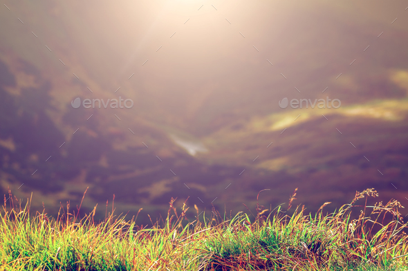 Nature mountain background - Stock Photo - Images