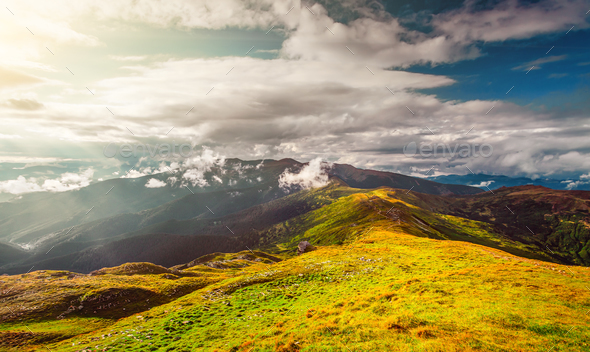 Mountain landscape in autumn - Stock Photo - Images