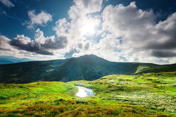 High mountain lake - Stock Photo - Images