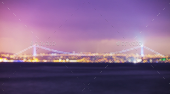 Istanbul cityscape at night - Stock Photo - Images