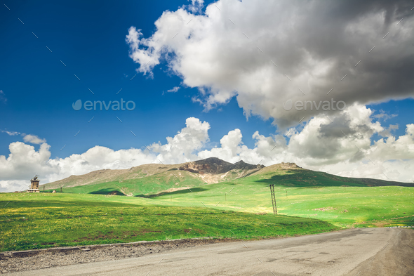 road and blue sky - Stock Photo - Images