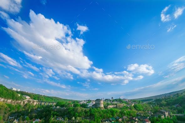 Kamianets Podilskyi cityscape - Stock Photo - Images