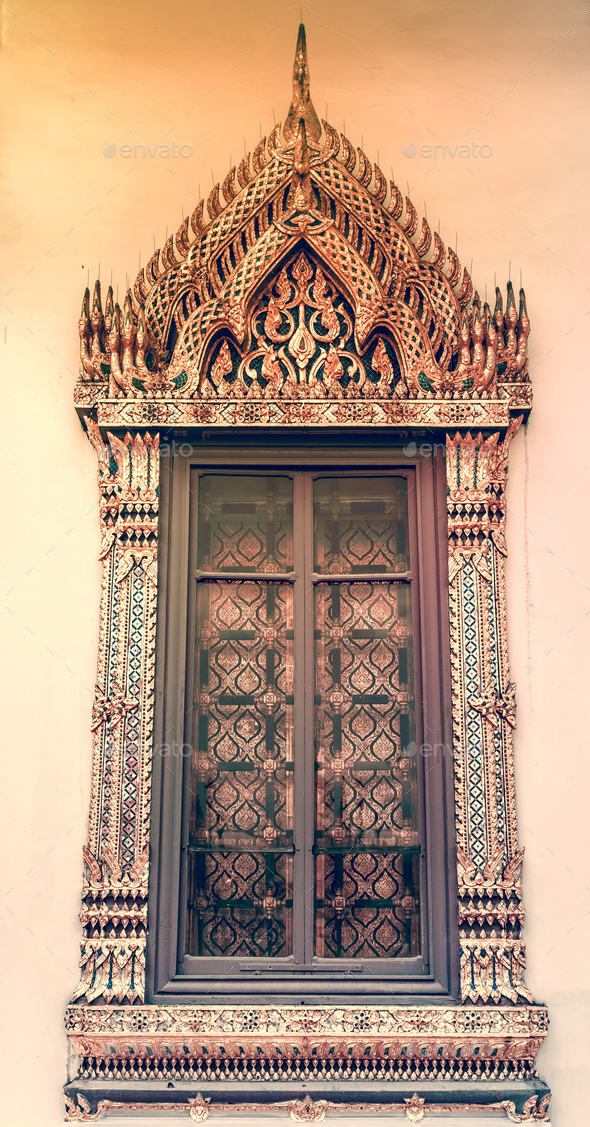 Window background in Royal Grand King Palace - Stock Photo - Images