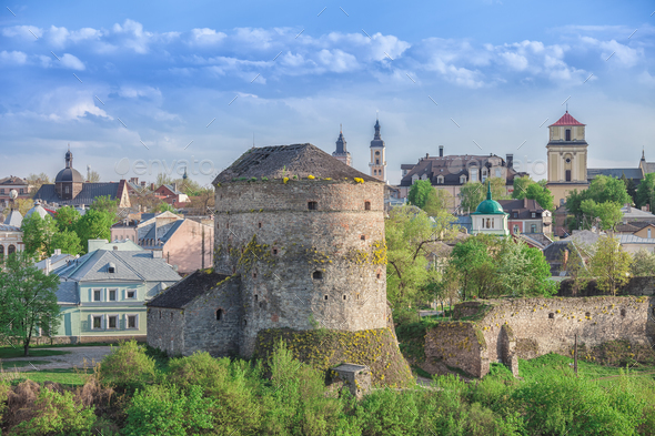 old tower in Kamianets Podilskyi - Stock Photo - Images