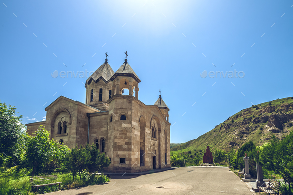 ancient stone church - Stock Photo - Images