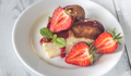 Slice of cheesecake with fresh strawberries - PhotoDune Item for Sale