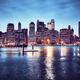 Manhattan skyline at dusk, New York. - PhotoDune Item for Sale