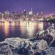 Manhattan skyline seen from Brooklyn at night, NYC. - PhotoDune Item for Sale