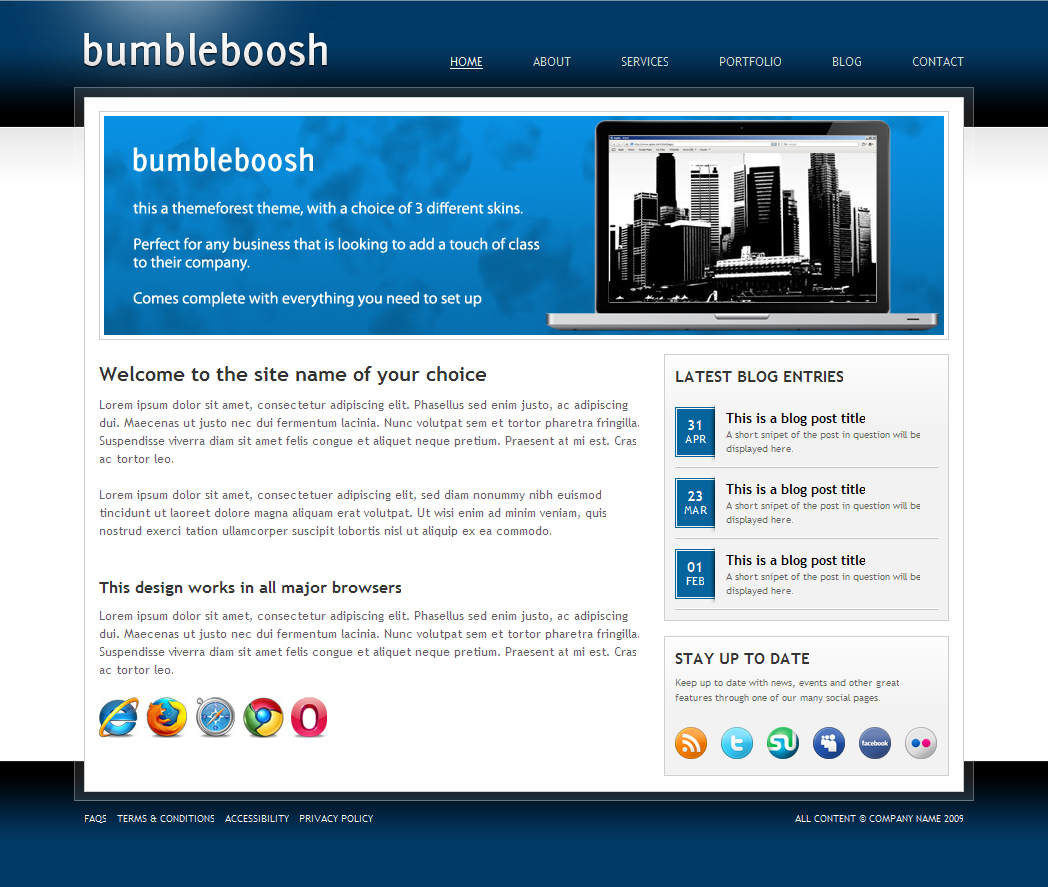Free Download BumbleBoosh Business & Portfolio Theme - 3 in 1 Nulled Latest Version
