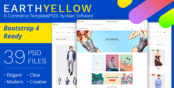 Earthyellow - eCommerce PSD Template - Retail PSD Templates