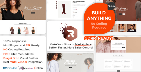 Rigid –  WooCommerce Theme for Enhanced Shops and Multi Vendor Marketplaces