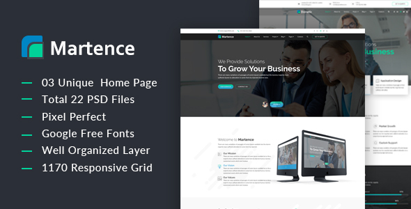 Martence – Corporate and Business PSD Template