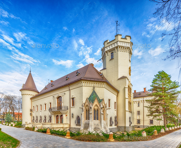 Karolyi castle in Carei - Stock Photo - Images