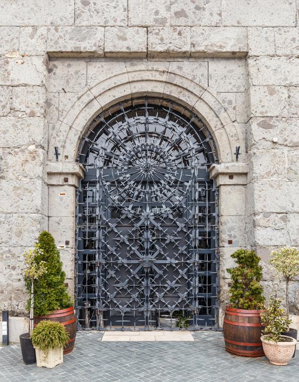 Metal door - Stock Photo - Images