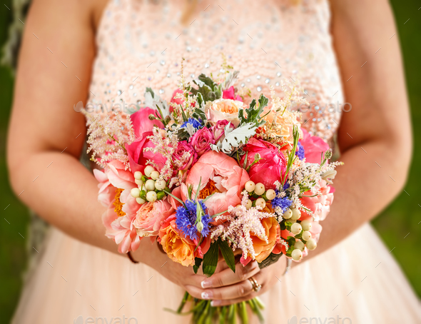 Beauty wedding bouquet - Stock Photo - Images