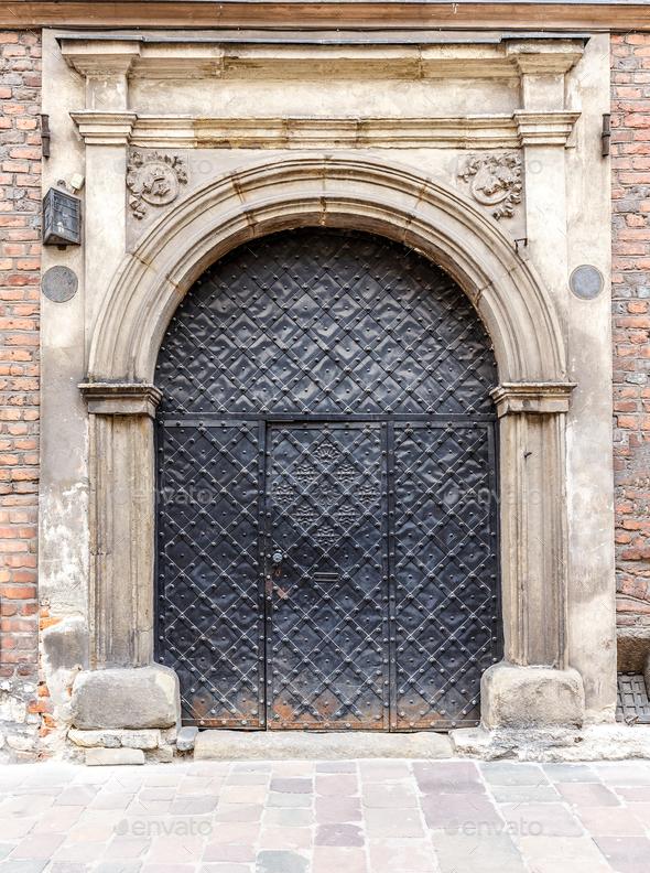 Rusty metal door - Stock Photo - Images