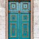 Blue door townhouse entrance - PhotoDune Item for Sale