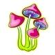 Narcotic Mushroom Pop Art Vector Illustration