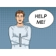 Man in Straitjacket Pop Art Vector Illustration - GraphicRiver Item for Sale