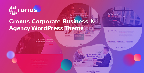 Cronus Plus – Corporate Business and Agency WordPress Theme
