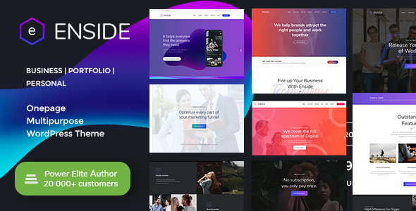 Image of Enside - Multipurpose Onepage WordPress Theme