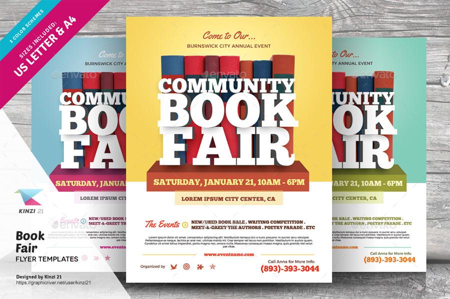 Book Fair Flyer Template Roho4senses
